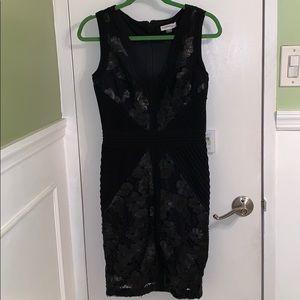 Calvin Klein Sleeveless Sequin Lace Dress